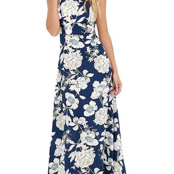 Garden Party Maxi Dress Navy