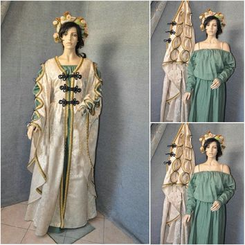 Customer-made Two-pices Cosplay Renaissance Dress Vintage Costumes Victorian Dress Steampunk dress Gothic Halloween Dress C-552