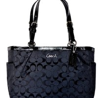 Coach Signature Gallery East West Tote Handbag Purse 17726 Black