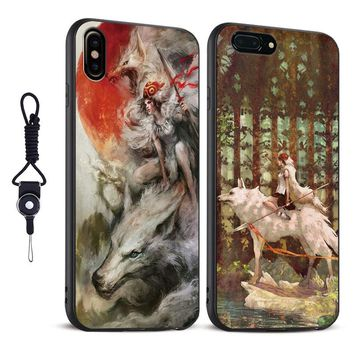 Princess Mononoke Anime coque soft silicone Phone Case cover Shell For Apple iPhone 5 5s Se 6 6s 7 8 Plus X XR XS MAX
