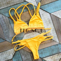bikini push up bikini Swimwear swimsuit Women Padded Boho biquinis Bikini Set New Swimsuit Lady Bathing suit female swimwear N05 CF