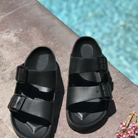 Double Strap Waterpoof Slide Sandal