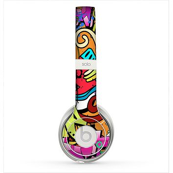 The Vibrant Colored Vector Graffiti Skin for the Beats by Dre Solo 2 Headphones