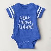 You Are Loved Lettering Design Baby Bodysuit
