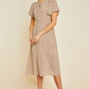 Dotted Swing Midi Dress