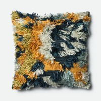 Loloi Marine / Gold Decorative Throw Pillow (P0412)