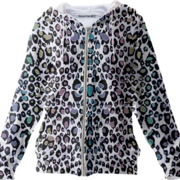 Sparkling Rainbow Fantasy Leopard Print Jacket created by UROCKDesign | Print All Over Me