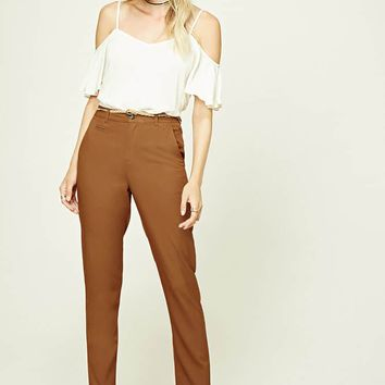 Contemporary Belted Trousers