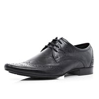 River Island MensBlack pointed brogues