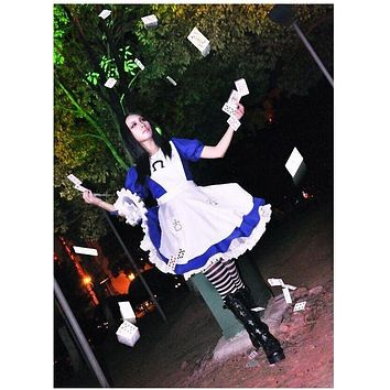 Alice Madness Returns cosplay costume halloween costumes hysteria dress for women and girls Custom made any size