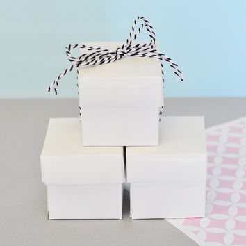 Favor Boxes White - Wedding Favors Birthday Party Favor Mini Boxes - Wedding Bridal Shower Baby Shower Supplies