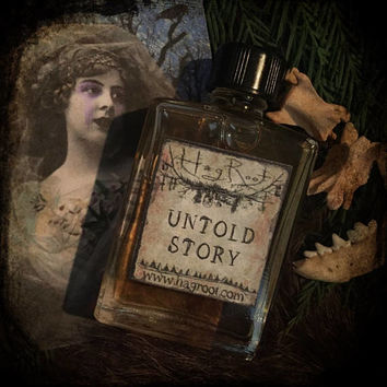 UNTOLD STORY-(Rose, Carnation, Ivy, Lavender, Sage, Blackberry, Sandalwood, Brown Sugar, Lotus, Star Anise, Vanilla, Patchouli, Opopanax)