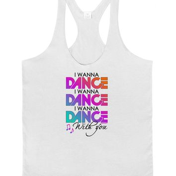 I Wanna Dance With You Mens String Tank Top