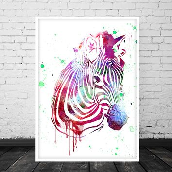 Animal Print, Watercolor Zebra Print, Nursery Zebra Poster, Abstract Print, Zebra Poster, Kids Print, Animal Digital Art - 15