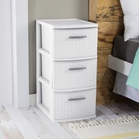 Sterilite 3 Drawer Weave Tower, White - Walmart.com
