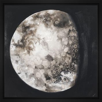 New Moon II 28L X 28H Floater Framed Art Giclee Wrapped Canvas