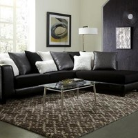 Jitterbug Black Sectional Sofa