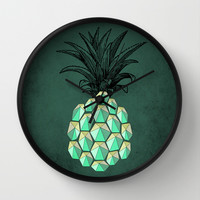pineapple anatomy 4 Wall Clock by AmDuf