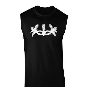 Masquerade Mask Silhouette Dark Muscle Shirt  by TooLoud