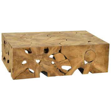Dovetail Block Teak Root Coffee Table | New Furniture | What's New! | Candelabra, Inc.