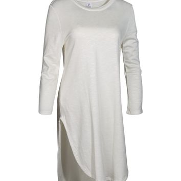 Mulholland Women's Soft and Cozy Snit Tunic Sweatshirt Dress