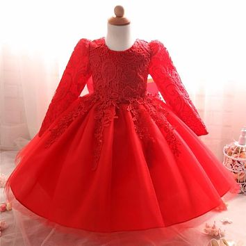 Lace Princess Kids Party Dresses For Girls Clothes Fancy Childre eed055a76fee