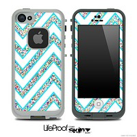 Large Chevron and Colorful Sprinkles Skin for the iPhone 5 or 4/4s LifeProof Case