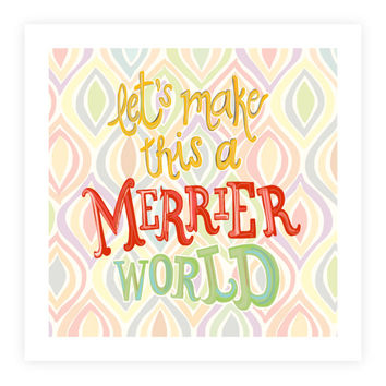 10x10 Inspiring print - Christmas quote - positive saying - peace quote - happy art - Xmas decor - world peace print - holiday hope decor