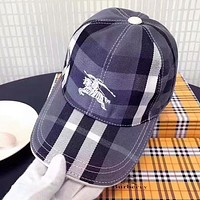 Burberry High Quality Popular Women Men Embroidery Sports Sun Hat Baseball Cap Hat Blue