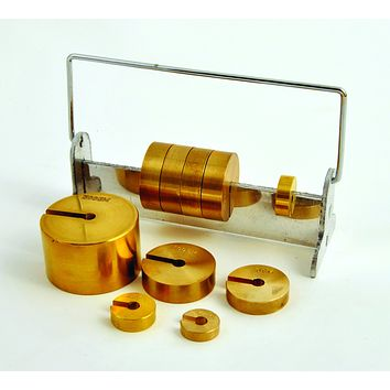 Deluxe Slotted Weight Set of 10, Brass