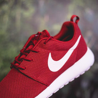"""NIKE"" Roshe Run Women Casual Sport Shoes Sneakers Red"