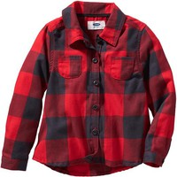Old Navy Plaid Long Sleeve Shirt For Baby