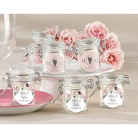 Personalized Glass Favor Jars - English Garden (Set of 12)