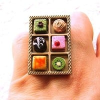 Gourmet Dessert Sweets Cake Ring by SouZouCreations on Etsy