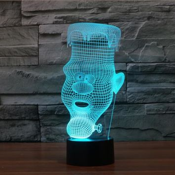 Candle Man 3D LED Night Light Lamp