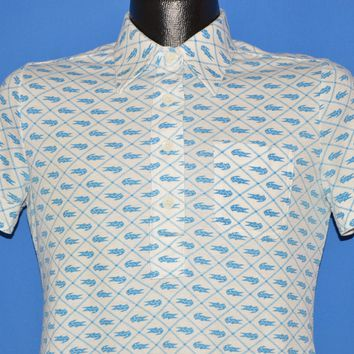 70s Izod Lacoste Crocodile Pattern Polo Shirt Medium