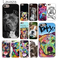 Lavaza Pitbull dog Hard Phone Cover Case for Apple iPhone 10 X 8 7 6 6s Plus 5 5S SE 5C 4 4S Coque Shell 1