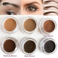 Day-First™ Pro Makeup Eyebrow Cream 5 Colors Waterproof Eye Brow Filler Eyebrow Gel Brown Color