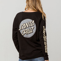 SANTA CRUZ Convert Black Womens Tee