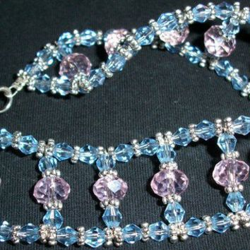 Sale Crystal Ladder In Blue and Pink with a by moonknightjewels
