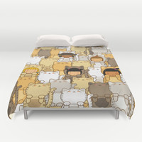 Lucky Cats Duvet Cover by Pigtails