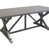 Humphrey Dining Table, Silver