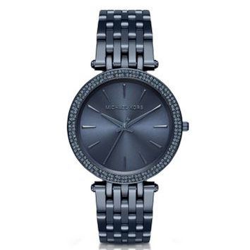 Darci Pavé Navy Watch | Michael Kors