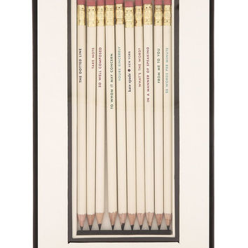 What's the Word Pencil Set in Gift Box by Kate Spade New York