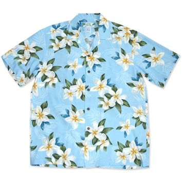 Escape Blue Hawaiian Rayon Shirt
