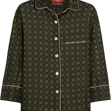 F.R.S For Restless Sleepers - Febe printed silk-twill shirt