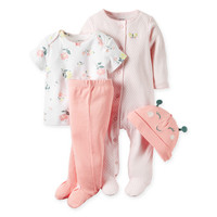 carter's® 4-Piece Babysoft Butterfly Take Me Home Set in Pink/Yellow