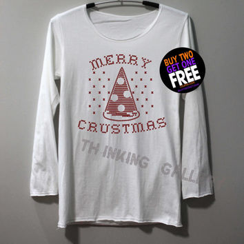 Merry Crustmas Shirt Long Sleeve TShirt T Shirt - Size S M L XL