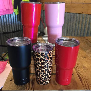 RTIC powdered coated stainless steel cups