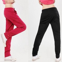Hot Fashion Womens Casual Drawstring Sweatpant Yoga Sports Harem Pants Trousers  [7687805382]